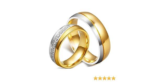 Amazon.com: Los Nuevos Anillos Amante Oro Titanio Anillos De Compromiso Anillos De Boda Al Por Mayor De Cr-034 (male, 11): Home & Kitchen
