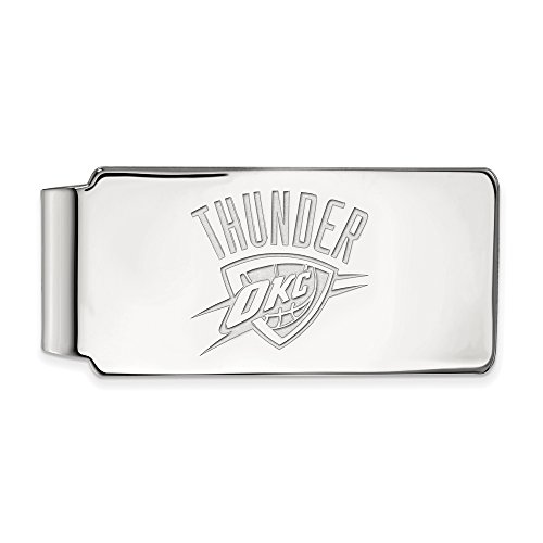 NBA Oklahoma City Thunder Money Clip in Rhodium Plated Sterling Silver by LogoArt