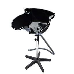 HomeSmith Portable Height Salon Deep Basin Adjustable Hair Wash / Treatment Bowl Shampoo Sink Home or Salon Tool Black