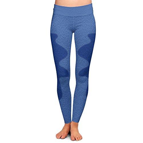 Stitch Fur Disney Inspired Yoga Leggings - Full Length, Low Waist Blue