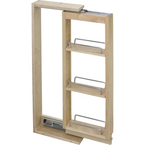 Hardware Resources WFPO630 Wall Cabinet Filler Pullout, Hard Maple