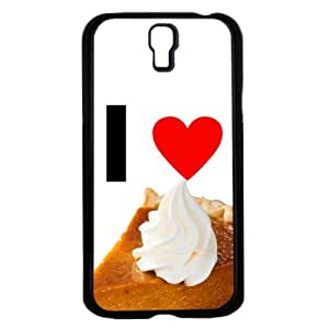 I Love Pumpkin Pie with Whipped Cream Topping Hard Snap on Cell Phone Case Cover Samsung Galaxy I9500 (s4) by Maris's Diary