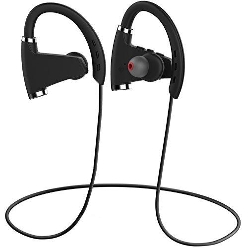 hhusali bluetooth headphones sports sweatproof earphones v4 1 wireless in ear earbuds secure. Black Bedroom Furniture Sets. Home Design Ideas