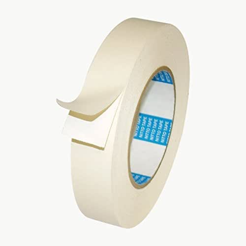 White Nitto Permacel P-02 Double Coated Kraft Paper Tape: 3//4 in x 36 yds.