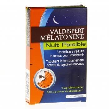 Idim – Vemedia Valdispert - Comprimidos de melatonina para una noche apacible, caja con 40