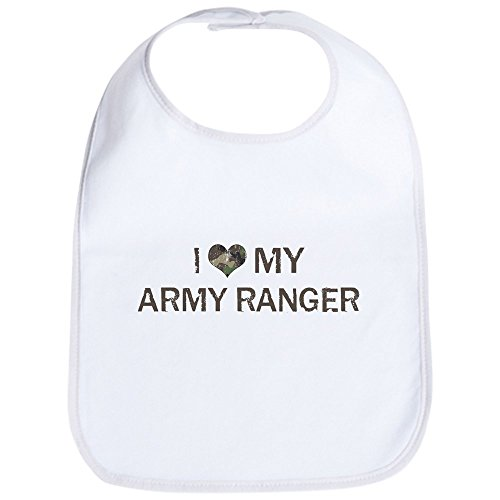 - CafePress - Army Ranger: Love - Vintage Bib - Cute Cloth Baby Bib, Toddler Bib