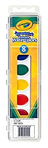 Crayola 8 Ct. Washable Watercolor Pans with Plastic Handle Brush