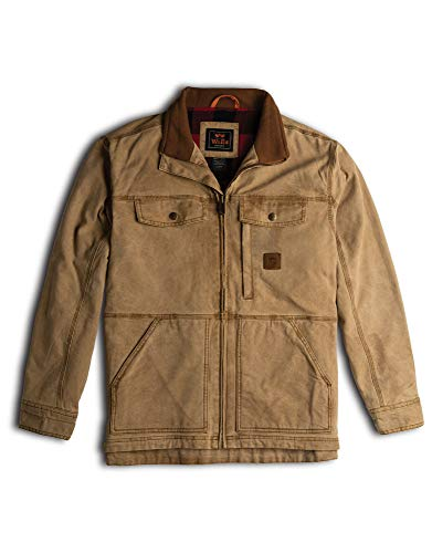 Walls Men's Vintage Lined Cotton Duck Jacket with Stretch, Washed Pecan, Extra Large (For Rancher Men Coat)