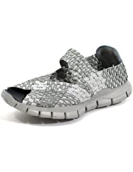 Bernie Mev Womens Comfi Fabric And Synthetic Casual,Silver/Grey,38