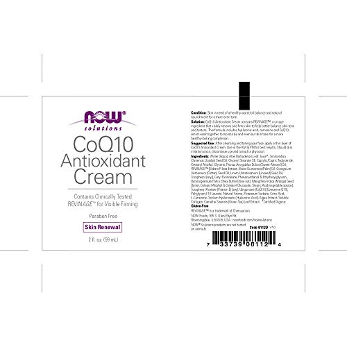 NOW CoQ10 Antioxidant Cream, 2-Ounce - incensecentral.us