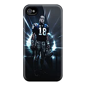High Grade MikeEvanavas Flexible Tpu Cases For Iphone 4/4s - Indianapolis Colts
