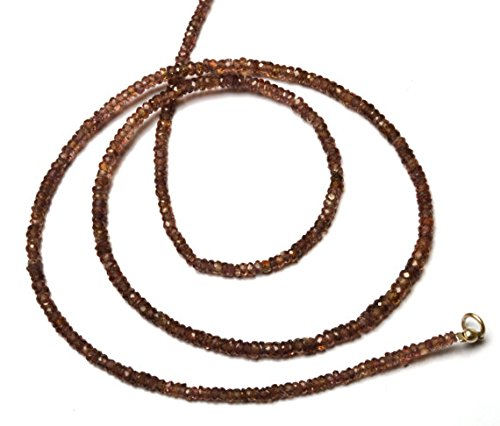 JP_Beads 1 Strand Natural Brown Sapphire 3MM Facet Rondelle Bead 18 inch Long