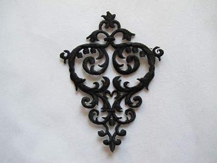 3731D Black Trim Fringe Boho Deco Embellishment Embroidery Applique Patch