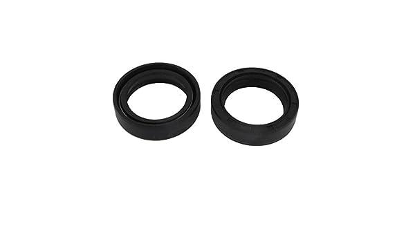 2pcs 30x40x10mm Black Rubber Double Lip Skeleton Shaft TC Oil Seal