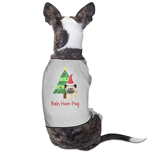 Theming Bah Hum Pug Dog Vest (Printables Christmas The Around World)
