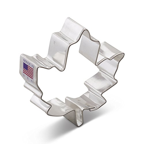 Fall Leaf Cookie Cutter (Ann Clark Maple Leaf Cookie Cutter - 3 Inches - Tin Plated Steel)