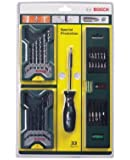 Bosch Mini-X-Line 31-Piece Drill Bit Set with Spirit Level and Hand Screwdriver