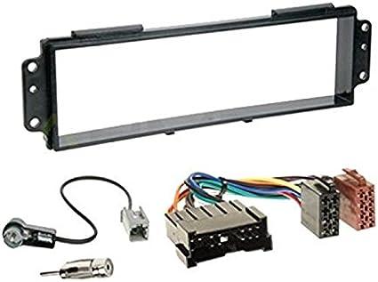 Sound Way 1 Din Autoradio Radioblende Radiorahmen Iso Verbindungskabel Antennenadapter Schlüssel Kompatibel Mit Kia Picanto 2007 2011 Elektronik