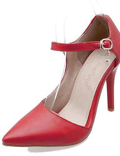 Bout Blanc Pointu Uk4 talon Eu37 Chaussures habillé 5 talons noir Femme 5 Aiguille Rouge similicuir talons 5 us6 Black 7 Cn37 Ggx zX4qx