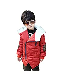 YUHUAWYH Unisex Coats Jackets for Boys Girls Winter Hooded 3-10 Years Old Kids