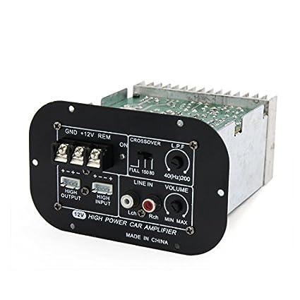 DealMux DC 12V de áudio estéreo de alta potência Amplificador Digital Módulo Board para Car Auto