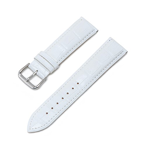 Amazon.com: Ullchro Watch Strap Replacement Genuine Leather Watch Band Stitched Edging Bamboo Grain - 12, 14, 16, 18, 19, 20, 21, 22, 24 mm Watch Bracelet ...