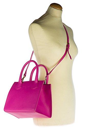 Patrizia Pepe borsa donna a mano shopping nuova originale fucsia