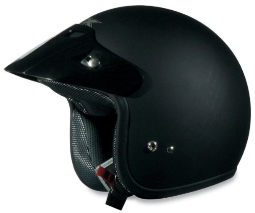 AFX FX-75 Solid Youth Helmet , Size: Lg, Size Segment: Youth, Primary Color: Black, Helmet Category: Street, Helmet Type: Open-face Helmets, Distinct Name: Flat Black, Gender: Boys XF0105-0010