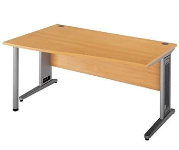 Welle Schreibtisch Lange 990 Mm Breite 1600 Mm Hohe 725 Mm