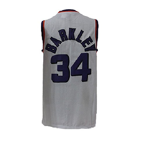 Morisra Barkley Jerseys Mens Phoenix 34 Jersey Charles Basketball Jerseys White  L