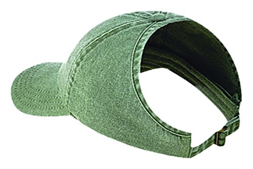 Washed Pigment Dyed Cotton Twill Ponytail Low Profile Pro Style Caps