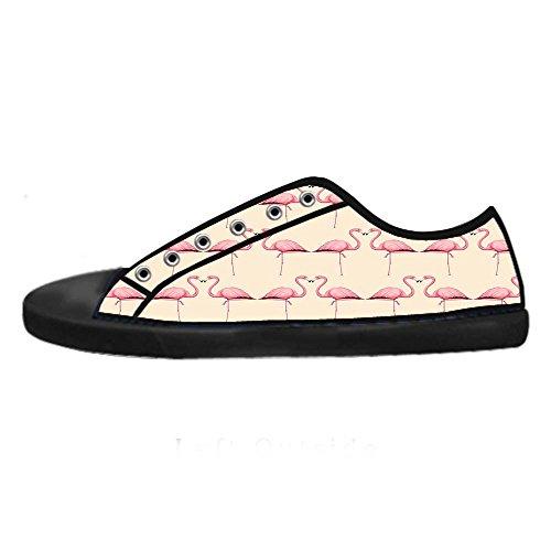 Dalliy Pink Flamingo Mens Canvas shoes Schuhe Lace-up High-top Sneakers Segeltuchschuhe Leinwand-Schuh-Turnschuhe B