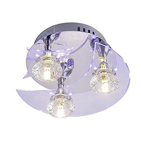 Lámpara Araña de Techo de Cristal para Recibidor, Barra ...