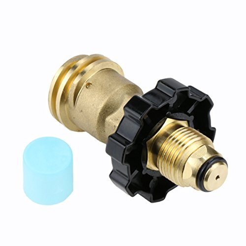 GASLAND Propane Adapter, POL to QCC1 Type1 Propane Tank Adapter Valves with Wrench, LP Gas Adapter Connector for Propane Tank Cylinder, Suitable for RV Camper, Cylinder, BBQ Gas Grill, Heater
