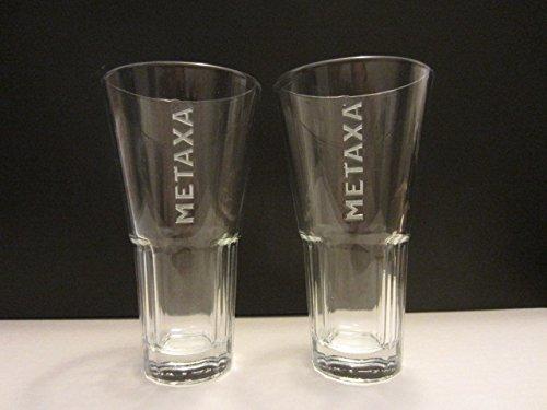 Set of 2 Metaxa Greek Premium Spirit Liqueur Brandy Wine Cocktail Glasses