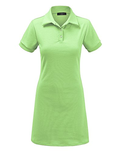 MBJ Kids KDR1511 Mommy and Me Short Sleeve Polo Dress - Made in USA KM Mint by MBJ Kids (Image #2)