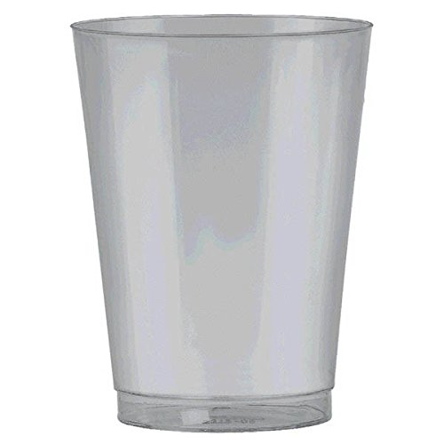 Silver, Big Party Pack, Plastic Cups 10 oz, 72 Per Pack
