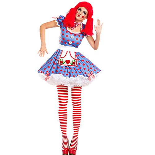 Mime Halloween Costume Female (Jester Halloween Costume - Womens Harlequin Circus Mime Cirque Clown Costume)