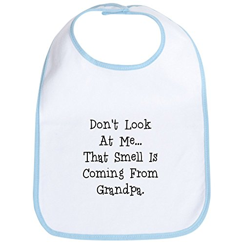 Grandpa Bib - CafePress Dont Look At Me That Smell Is Coming From Grandpa Cute Cloth Baby Bib, Toddler Bib