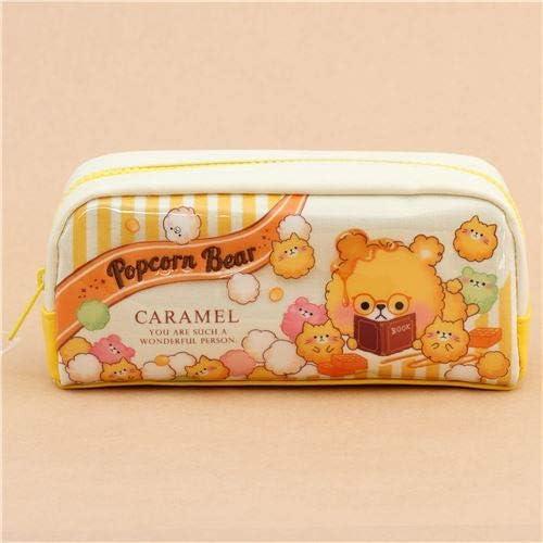 Estuche bolso lindo amarillo crema caramel palomitas oso gato de Japón: Amazon.es: Juguetes y juegos