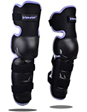 Baselay 1 Pair of Motorcycle Knee Protector, Movable Knee Shin Guard Pads with Adjustable Knee Cap Pads Protective Armor Gear for Adult Motorcycle Cycling Racing