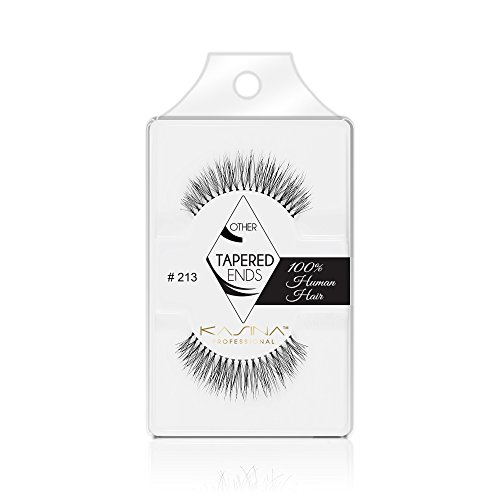[6packs] KASINA Pro Lash #213.Tapered ends in 100% Human hair. Most natural look, lightweight, soft and comfortable. (#T213)