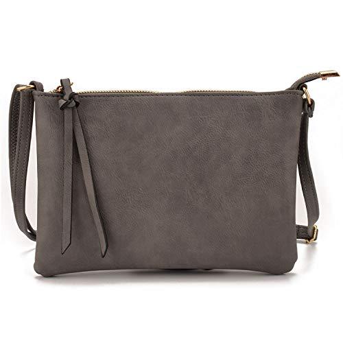 Recycled Vertical Messenger Bag - Vintage Slim Thin Women Leather messenger envelope Crossbody bag for ladies mini shoulder bag handbag purses hand bag