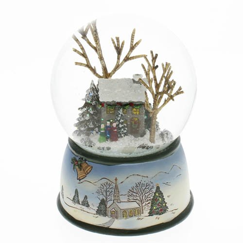The San Francisco Music Box Company Winter Cottage with Carolers Snow Globe (Store San Francisco Christmas)