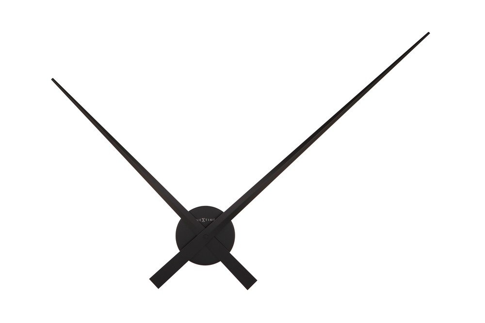 Amazon.com: NEXTIME Unek Goods Hands Wall Clock, Black, Battery Operated: Home & Kitchen