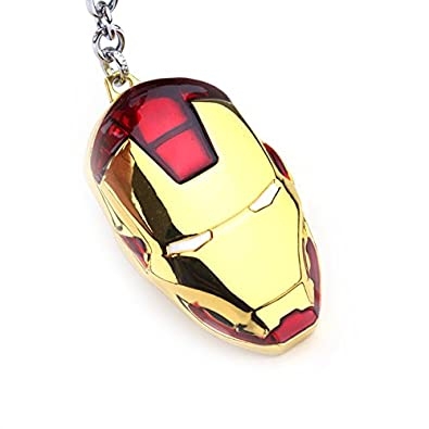 Amazon.com: Mar Iron Man Mask Keychain Super Hero The ...