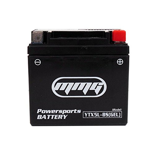 MMG YTX5L-BS GEL CELL Powersports Battery - Factory Sealed, Maintenance Free - Replaces: YTX5L-BS PTX5L-BS (Sealed Gel Cell Batteries)