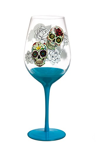 Day of the Dead 28 Oz. XL Wine Glass -