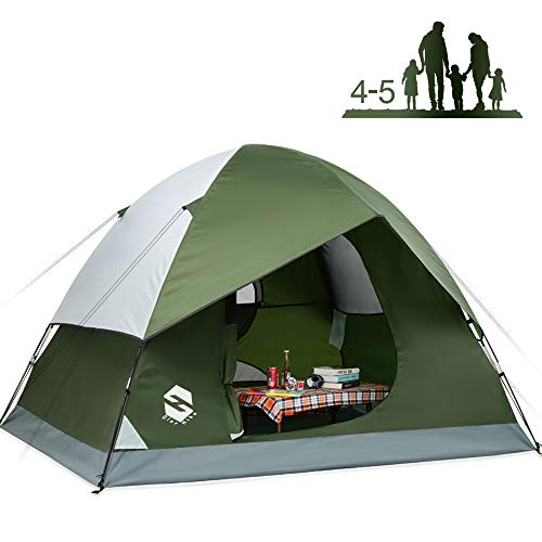 OlarHike 4 Person Tent for Camping, 4 Season Lightweight Waterproof Instant Family Backpacking Camping Tents, Green