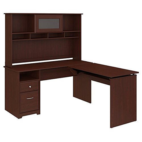 Bush Furniture Cabot 60W 3 Position L Shaped Sit to Stand De